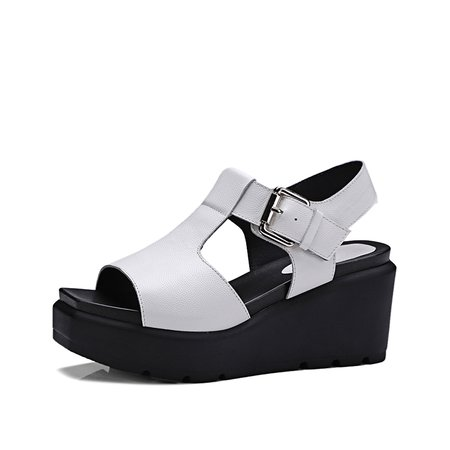 Casual Platform Leather Summer Hollow-out Sandals