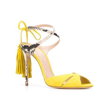 Suede Spring/Fall Tassel Heels
