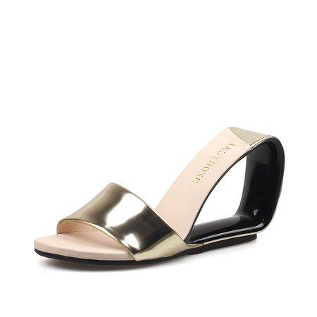 Golden Summer Split Sole Slippers