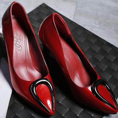 Red Sequin Spring/Fall Heels