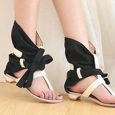 PU Bowknot Summer Sandals