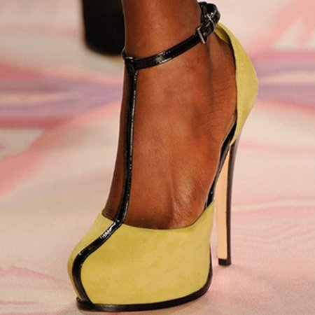 Yellow Summer Platform Heels