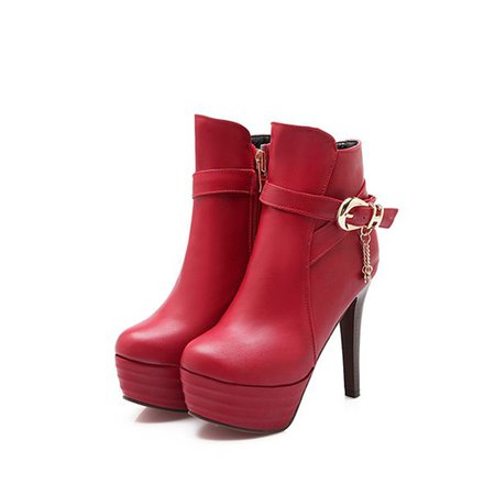 Platform Buckle Spring/Fall Boots