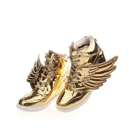 Lace-up All Season Wedge Heel Sneakers