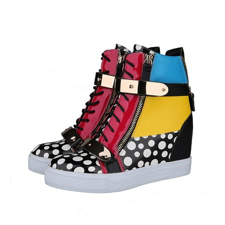 Wedge Heel Casual Lace-up Sneakers
