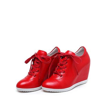 Casual Spring/Fall Wedge Heel Sneakers