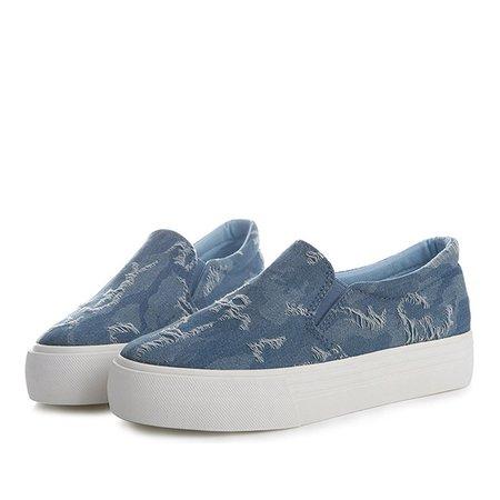 Casual Platform Denim Spring/Fall Canvas Shoes