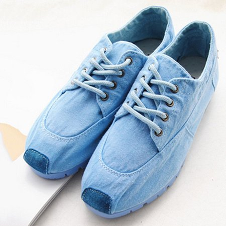 Lace-up Casual Suede Canvas Shoes