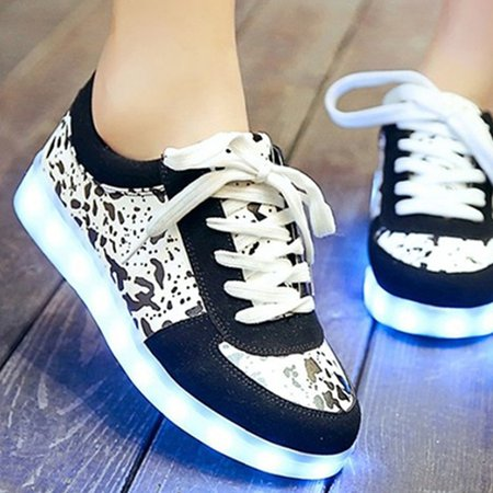 Lace-up Spring/Fall Platform Casual Sneakers