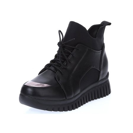 Lace-up Spring/Fall Casual Platform Boots