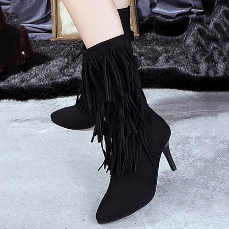 Tassel Stiletto Heel Spring/Fall Boots