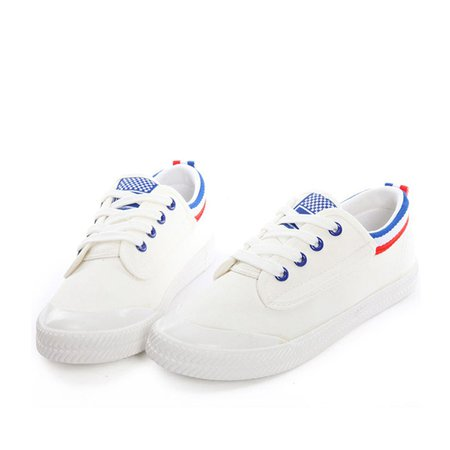 Royal Blue Flat Heel Casual Canvas Lace-up Canvas Shoes