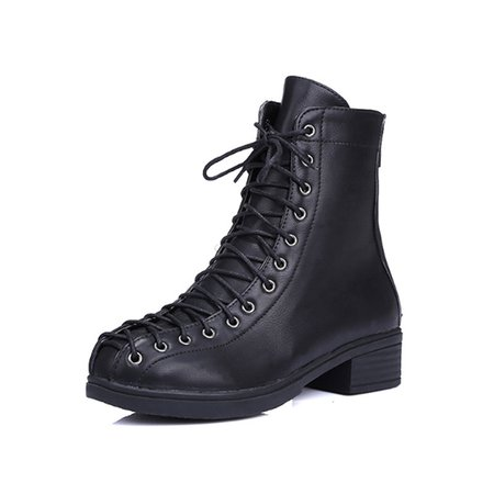 Low Heel Lace-up Casual PU Spring/Fall Boots