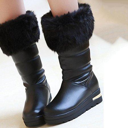 Platform Fur Winter Casual Boots