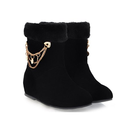 Suede Casual Chain Winter Boots