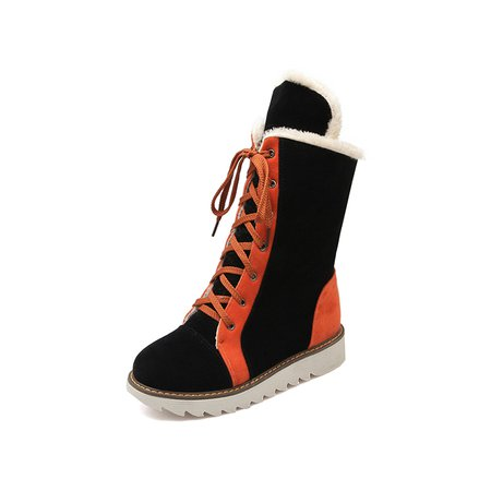 Lace-up Platform Winter Boots