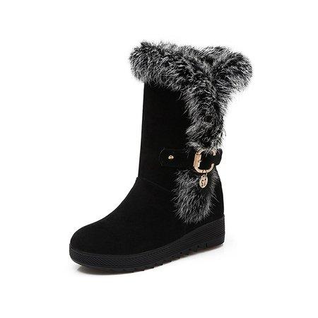Suede Fur Winter Platform Casual Boots