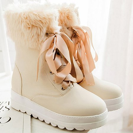 Winter Casual Lace-up Boots