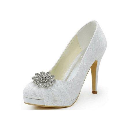 White High Heel Wedding Summer Heels