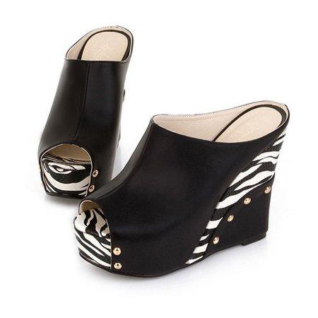 Summer Color Block Casual Platform Sandals