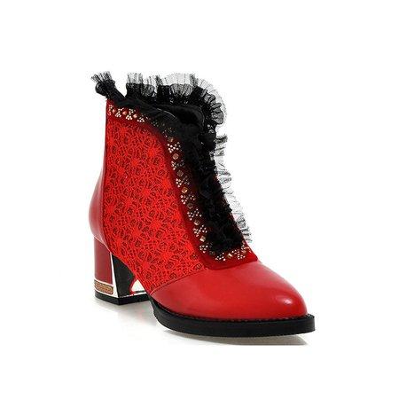 Crystal Chunky Heel Spring/Fall Boots
