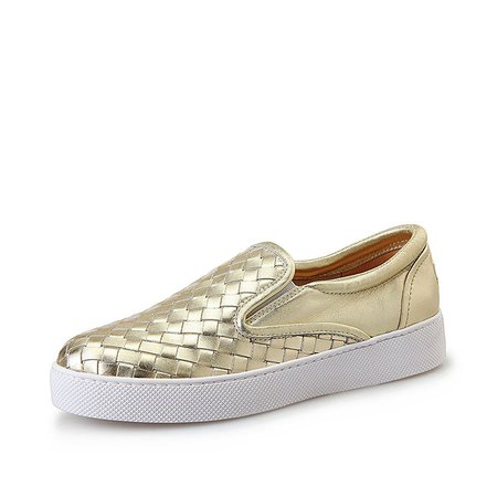 All Season Braided Strap Casual Leather Platform Sneakers