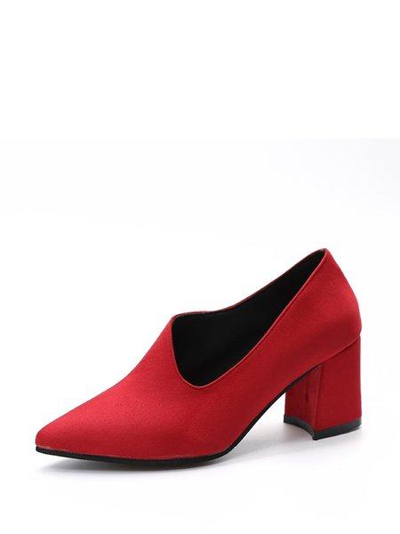 Casual Chunky Heel Spring/Fall PU Heels