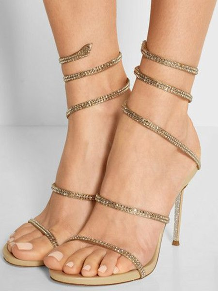 Golden Summer Hollow-out Sandals