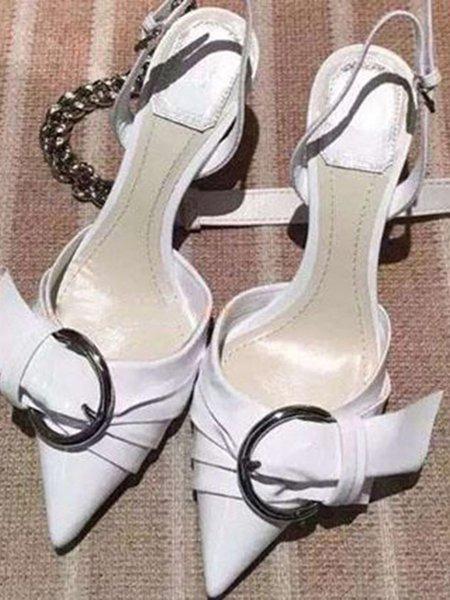 Spring/Fall Buckle PU Stiletto Heel Sandals