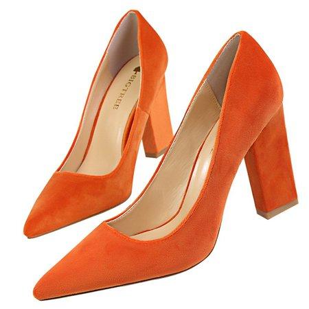 Suede Chunky Heel Spring/Fall Heels