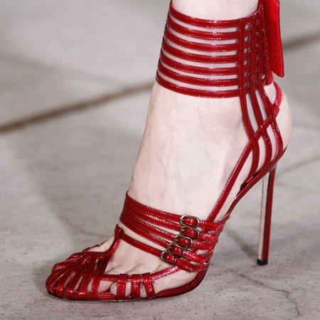 Red Summer Stiletto Heel Party & Evening PU Heels