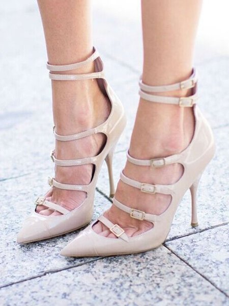 Apricot Spring/Fall Stiletto Heel Casual Sandals