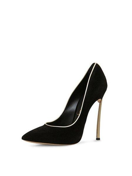 Black Summer Stiletto Heel Heels