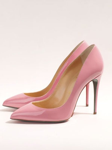 Pink Stiletto Heel Spring/Fall Patent Leather Heels