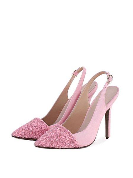 Pink Stiletto Heel Sandals