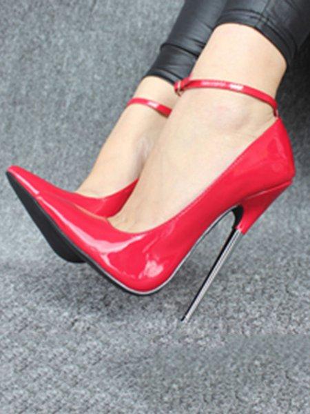 Leather High Heel Heels