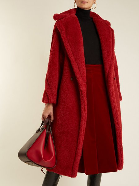 Plus Size Casual Fur Long Sleeve Fur And Shearling Coats