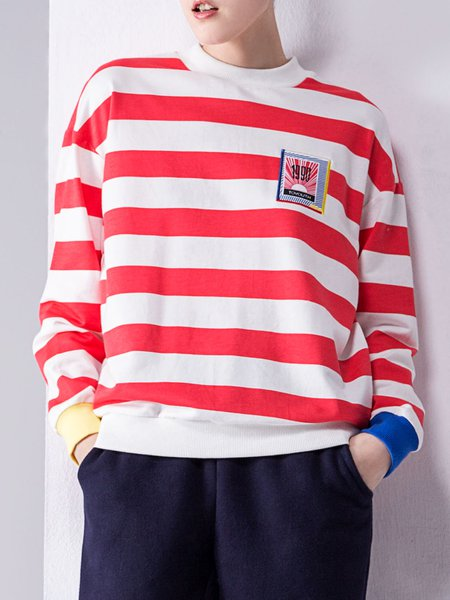 Cotton Casual Long Sleeve Sweatshirt