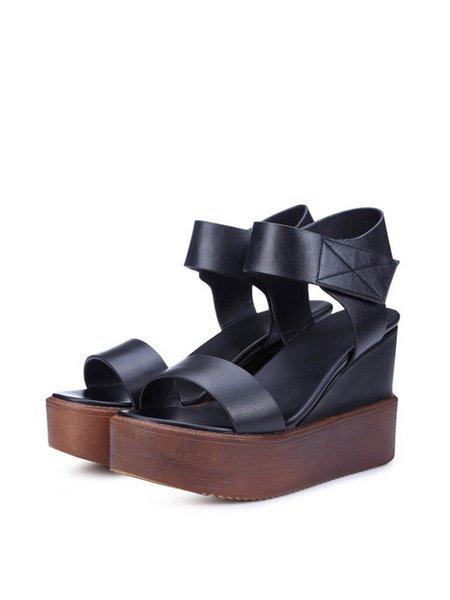 Wedge Heel PU Summer Casual Heels