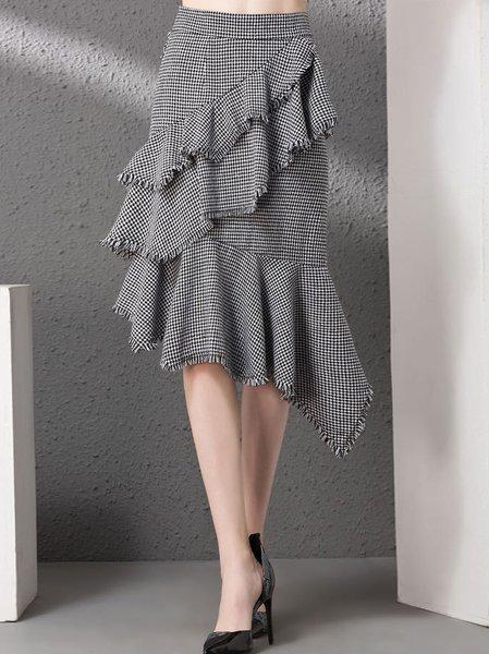 Gray Street Ruffled Midi Skirt