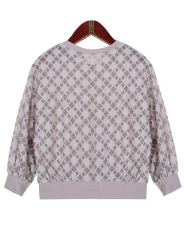 Pink H-line Long Sleeve Blouse