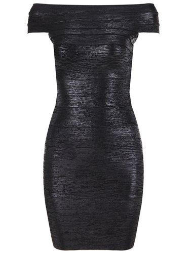 Sexy Short Sleeve Bodycon Off-shoulder Mini Dress