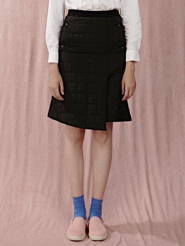 Black Plain Ribbed Casual Asymmetrical Midi Skirt