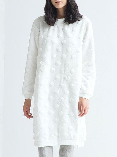 White Plain Simple Midi Dress