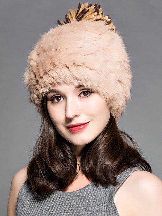 f5a456fe465 Stylewe Beige Hats Winter Casual Faux Fur Hats