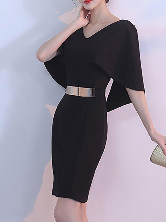 Black Evening Sheath Dresses