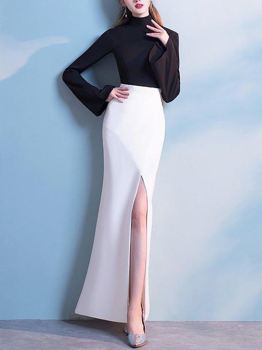 Stylewe Formal Dresses Long Sleeve Evening Mermaid Turtleneck