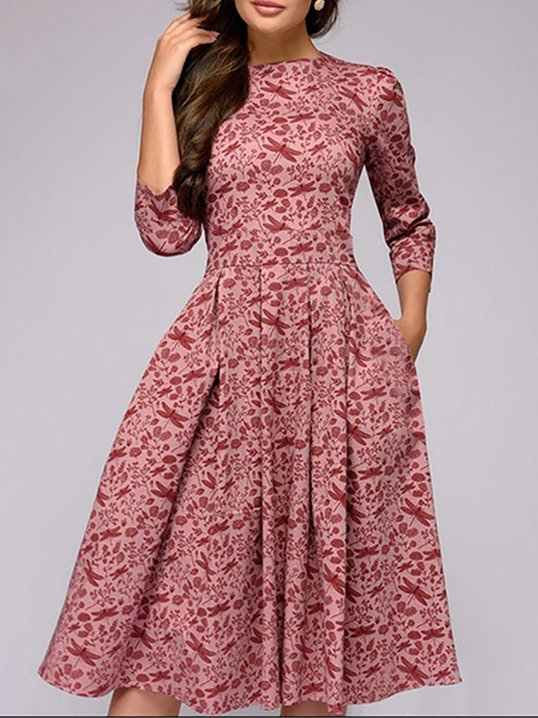 Stylewe Formal Dresses Casual Dresses Going Out A Line Crew Neck 34