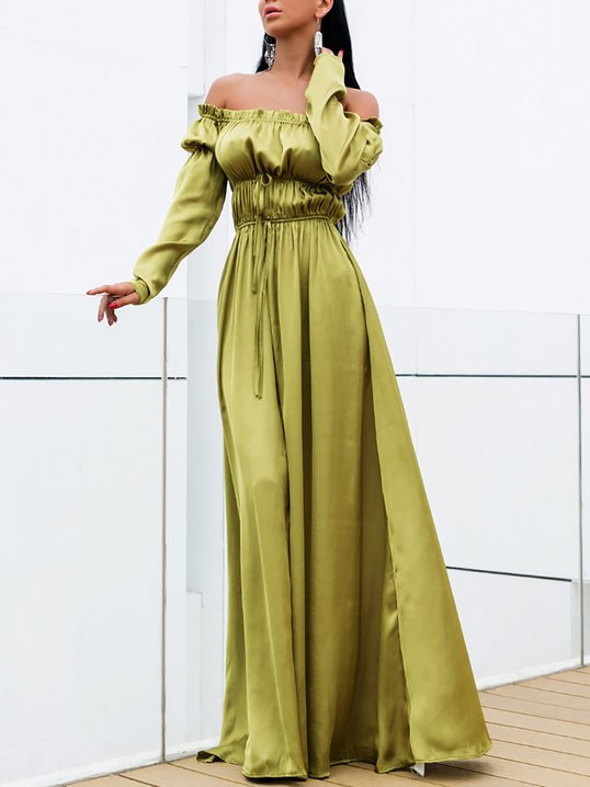a6c361aeec7a Stylewe Formal Dresses Long Sleeve Wrap Dresses Prom Blouson Off Shoulder  Party Ruched Dresses