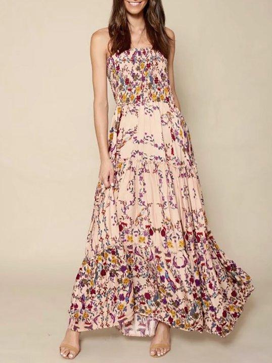 e506ddc7237 Stylewe Summer Dresses Sundress Holiday Strapless Backless Sleeveless Sexy  Dresses